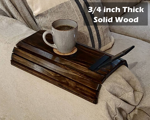 Wooden Arm Cover w/ Coaster and Cell phone Holder