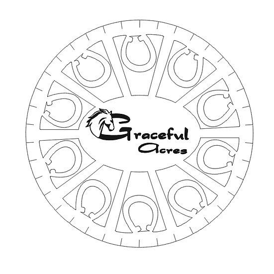 Horseshoe logo coaster