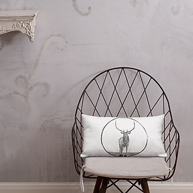 Double Sided Elk Pillow