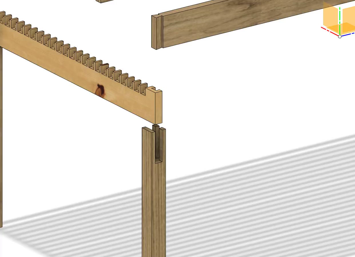 Animation of wood Joint table assembly