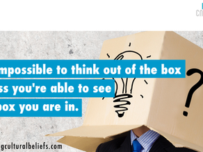 Everyone says we need to 'think out of the box' to innovate…
