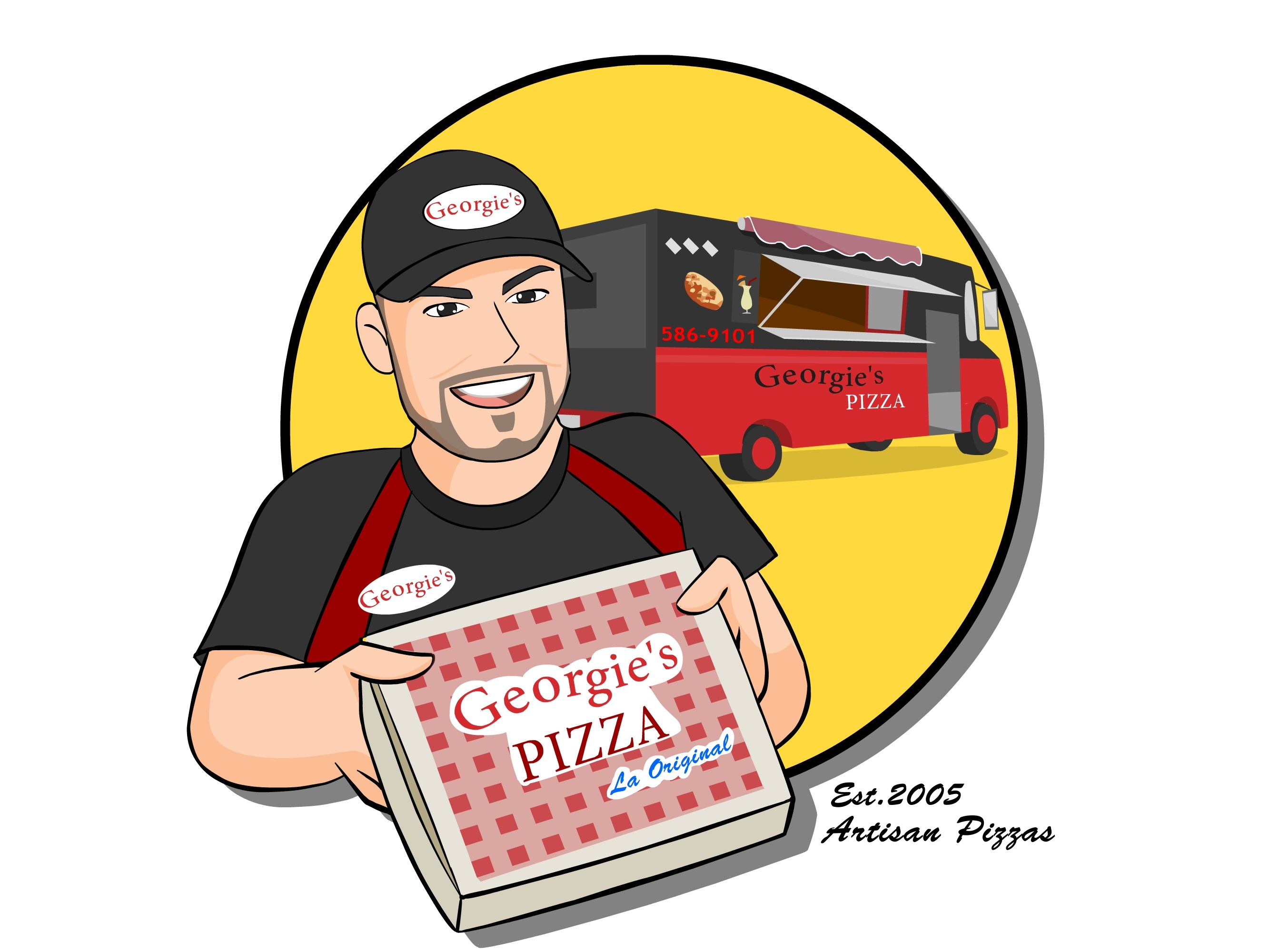 Georgie's Pizza | Food Trucks PR | Gastronomia Urbana Movil | GUMPR