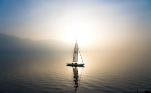 Sail boat in Léman