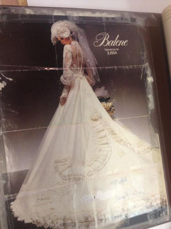 Original magazine clipping of dress