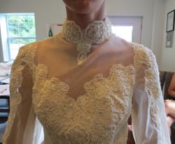 Original neckline & loose bodice