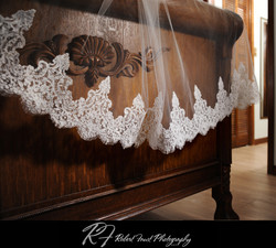 Veil made with new matching lace