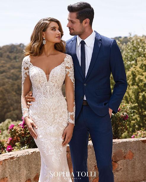 sophia tolli long sleeve wedding dress.j