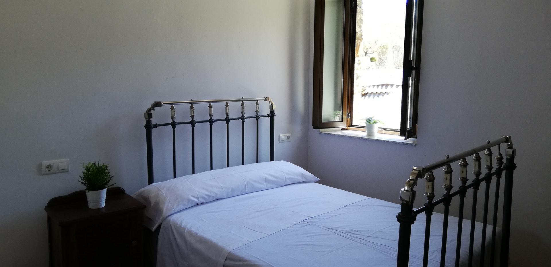 Dormitorio matrimonial. Casa de 6 plazas.