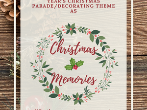 Christmas Parade/Decorating Theme Announced