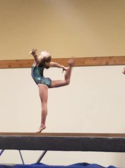 Sophie at practice