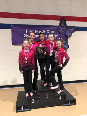 Level 5 team 1st place Flip for a cure