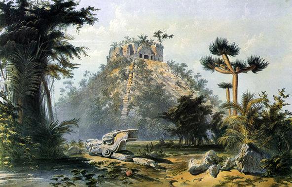 Catherwood's Teocallis, at Chichen-Itza.