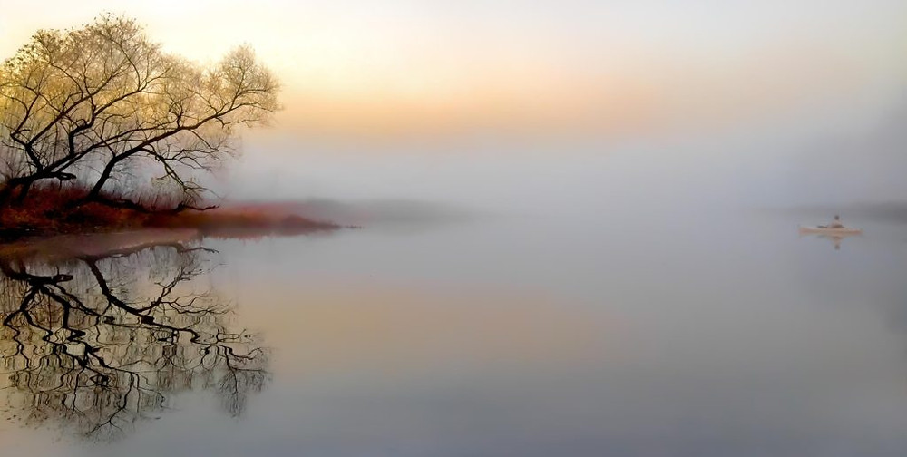 Dawn mist on Sudbury River. Photograph by Rob Houghton - All Rights Reserved © - www.robhoughtonphotography.com