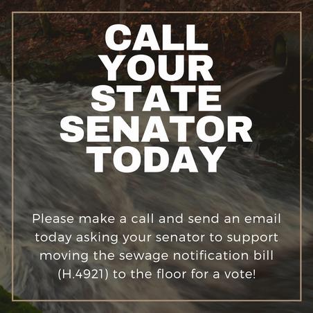 URGENT ACTION ALERT: Help move the sewage notification bill through the Senate!