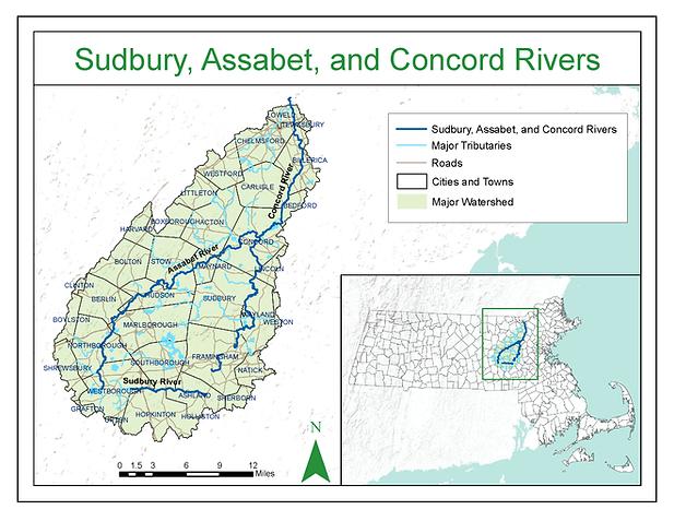 Sudbury, Assabet, and Concord Rivers_met