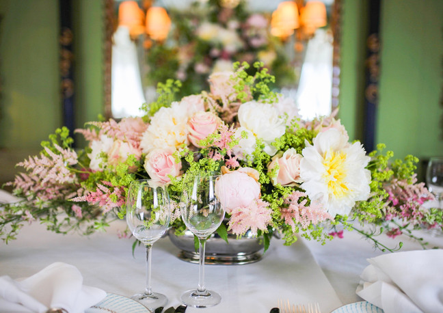 The Dorchester Hotel Luxury Wedding Flowers. Wedding Florists London. Blush Pink Bridal Bouquets and Wedding Toptable Centrepieces. Bespoke Floral Designs.