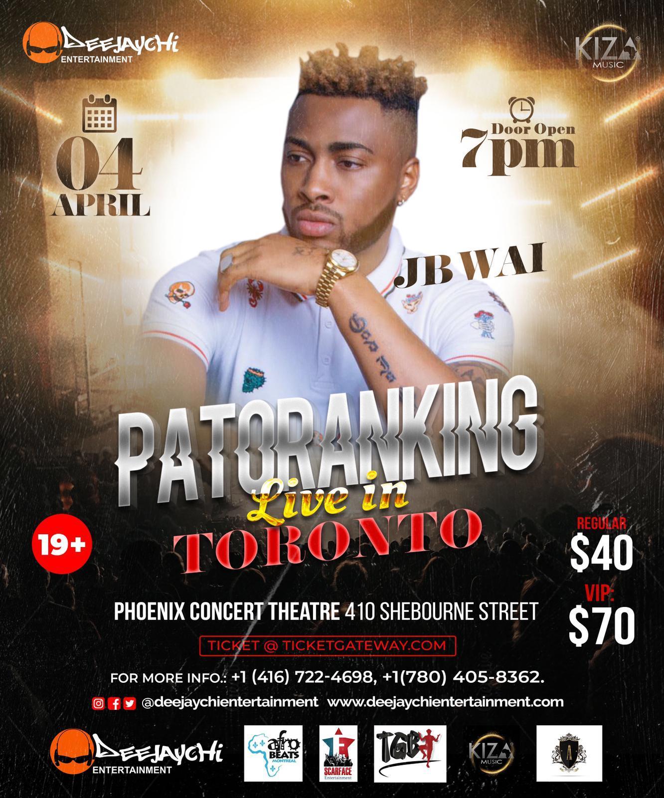 patoranking show