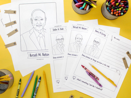FREE General Conference Printables + Meet the Prophets and Apostles Video