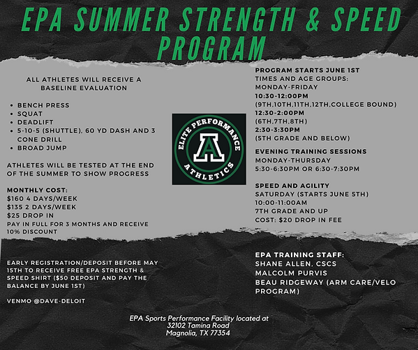 EPA Baseball Spring Season Tryouts (fina