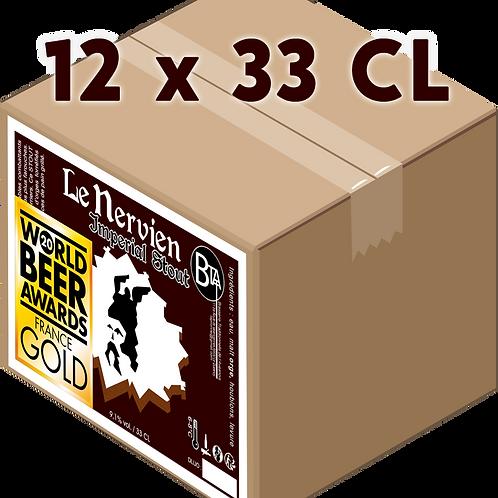 Carton -Le Nervien Imperial Stout 33 CL x 12
