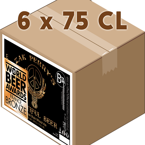 Carton - Zak Perry's Beautifull Beer Blanche 75 CL x 6