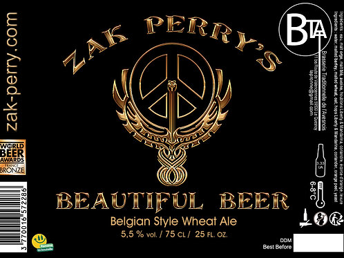 Zak Perry's Beautifull Beer Blanche 75 CL