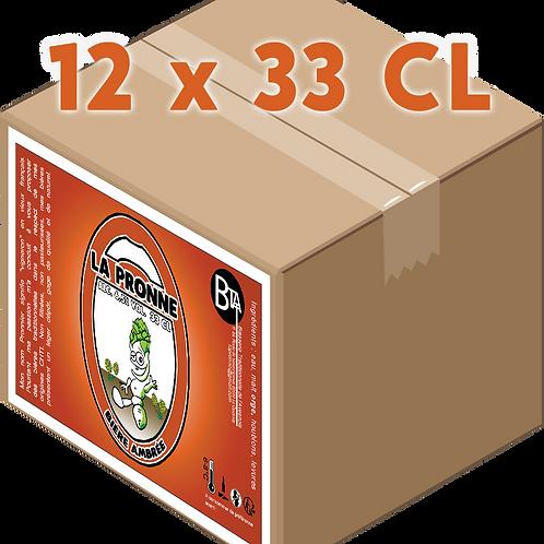 Carton - Pronne Ambrée 33 CL x 12