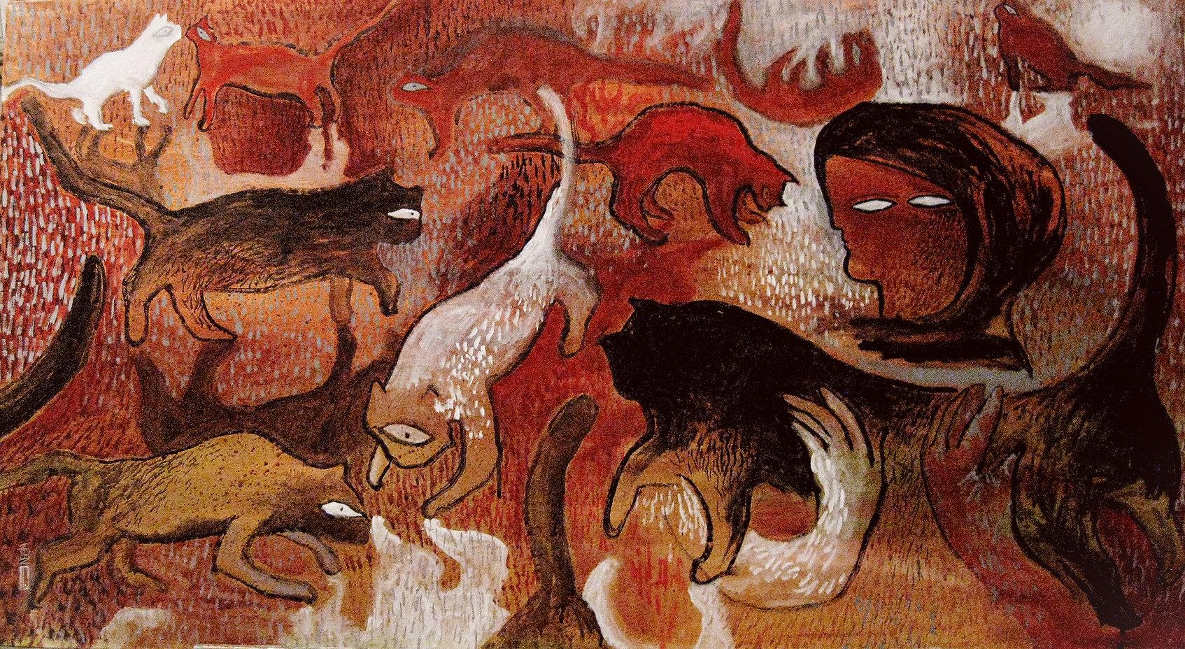 Neginete,Negin Ehtesabian, Iranian artist, activist artist, iran green movement, iran art, cave painting, iranian artists, middle east art, feminism art, woman art