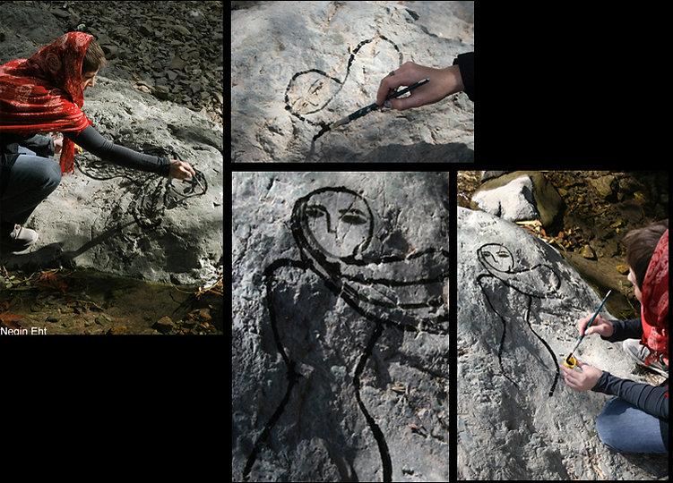 negin ehtesabian+neginete+shahrzad+scheherzade+neginete+irus+irusart project+morehshin allahyari+performance art+drawing for peace