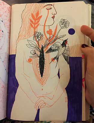 Negin Ehtesabian Neginete journal art (2