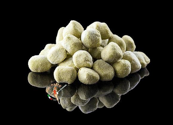 Green Handmade Potato Gnocchi