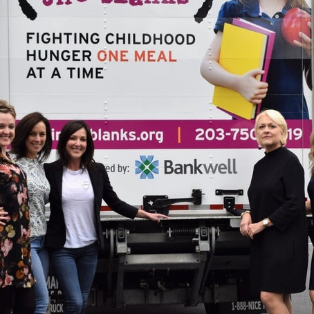 Bankwell has donated $15,000 to Filling in the Blanks to benefit the purchase of a new delivery truc