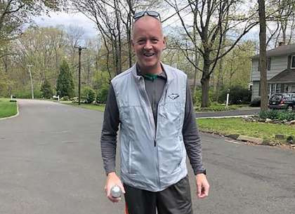 Norwalk man walks marathon to raise funds for kids affected by coronavirus