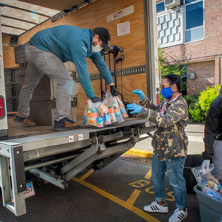 Severe food needs in Stamford, which has the most COVID-19 cases in Connecticut...