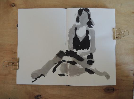 self portarait in ink