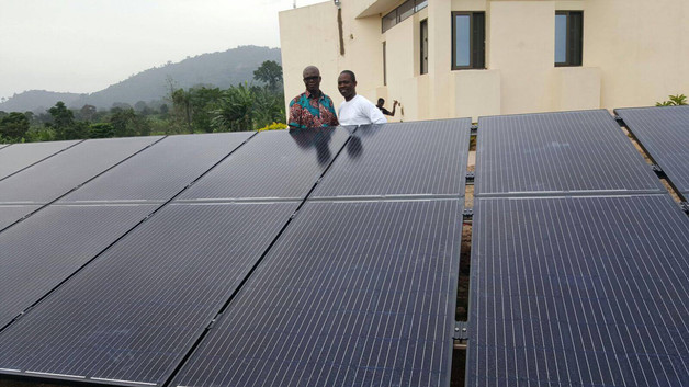 Solar panels installed at the clinic in Agou, Togo.
