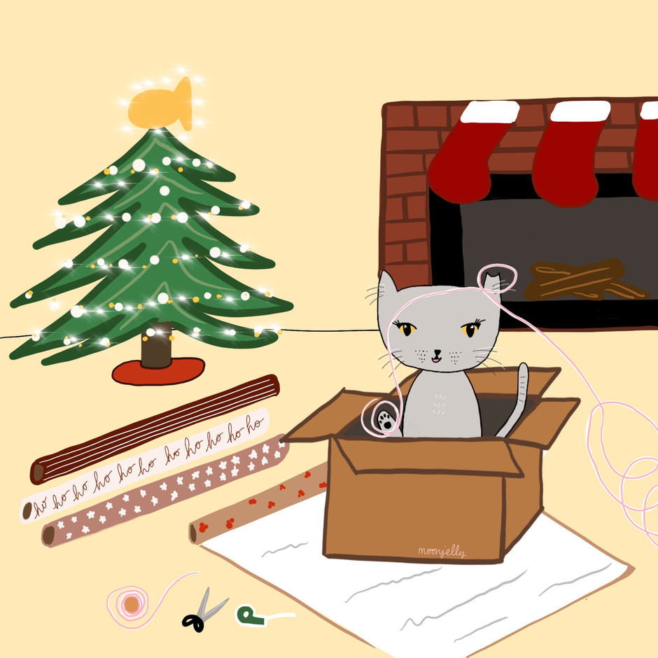 Gift Wrapping Station (Cat Version)