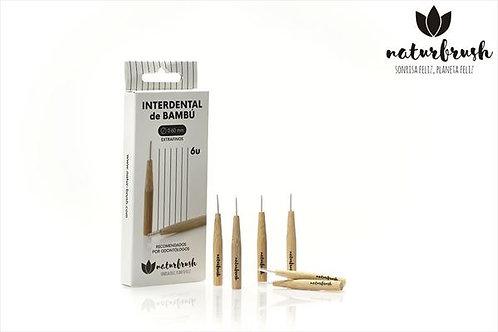 Cepillo interdental extra fino 0,6mm 6ud