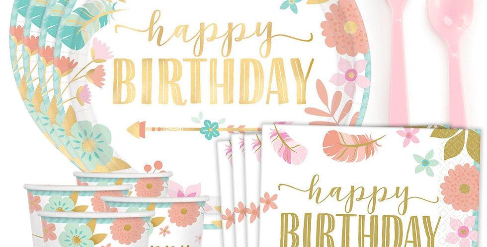Boho Birthday Set for 8