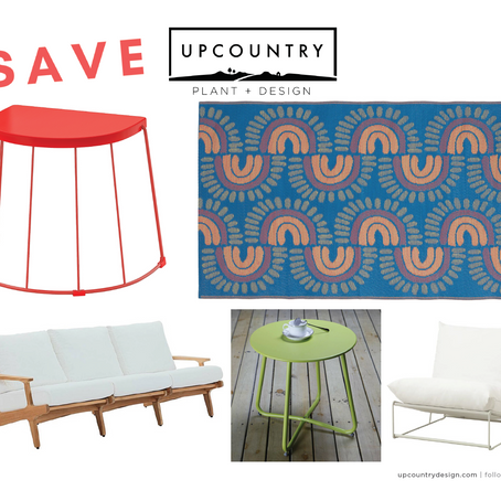 Outdoor Furniture Time! Save, Spend, Splurge