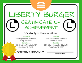 Liberty Burger Certificate.png