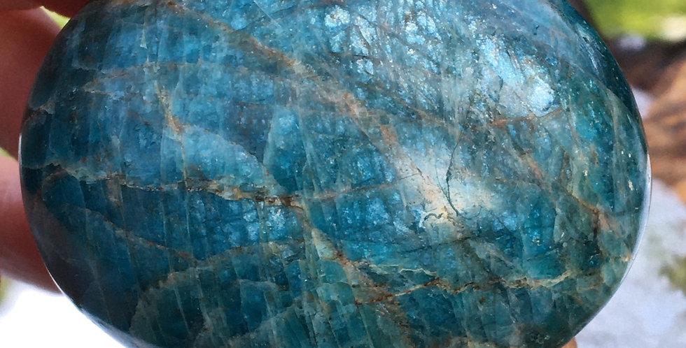 Apatite palm stone