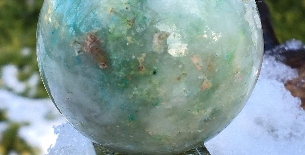 Phoenix stone sphere (chrysocolla )