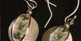 Seed pod earrings.