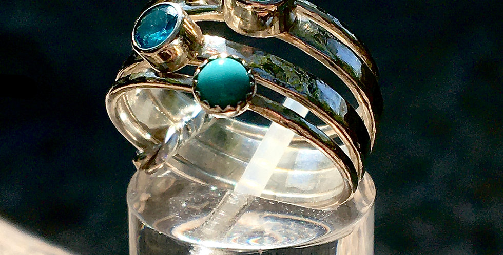 Colours of the Sea . connected stacker ring