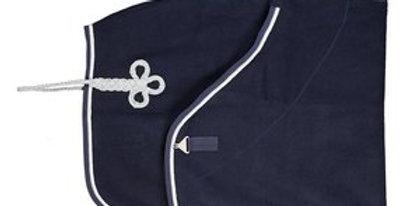 Laine marine-marine & argent- blanc