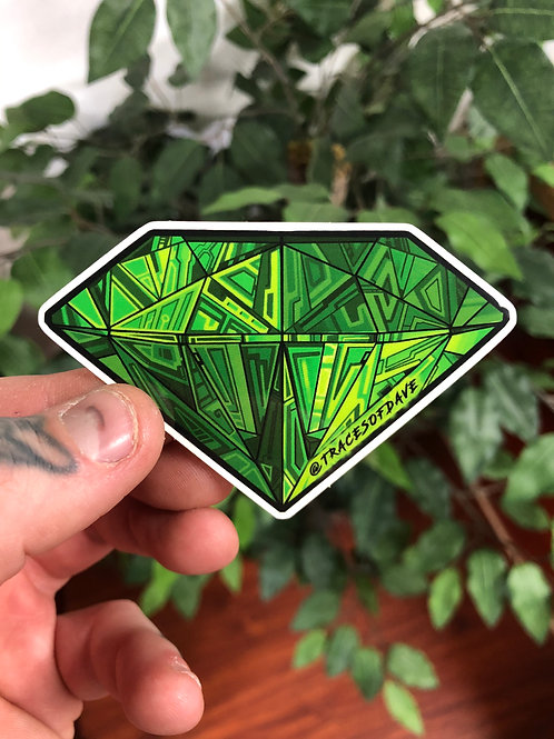 GREEN DIAMOND STICKER