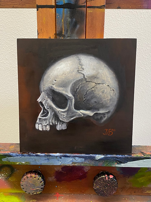 Nap Time Skull #3 - Original by Dave Barton
