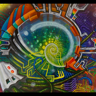 Psychedelic Painting by Dave Barton