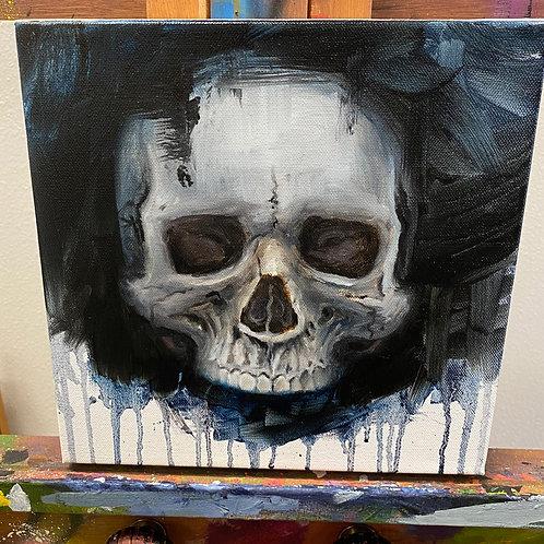 """Nap Time Skull"" -Original by Dave Barton"